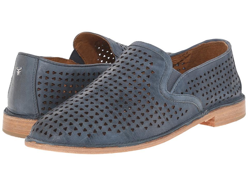 Trask - Ali Perf (Indigo Washed Sheepskin) Womens Slip on  Shoes