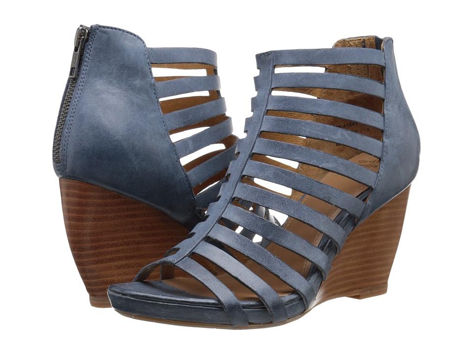 Johnston amp Murphy Nadine Blue Italian Waxy Calfskin Womens Shoes
