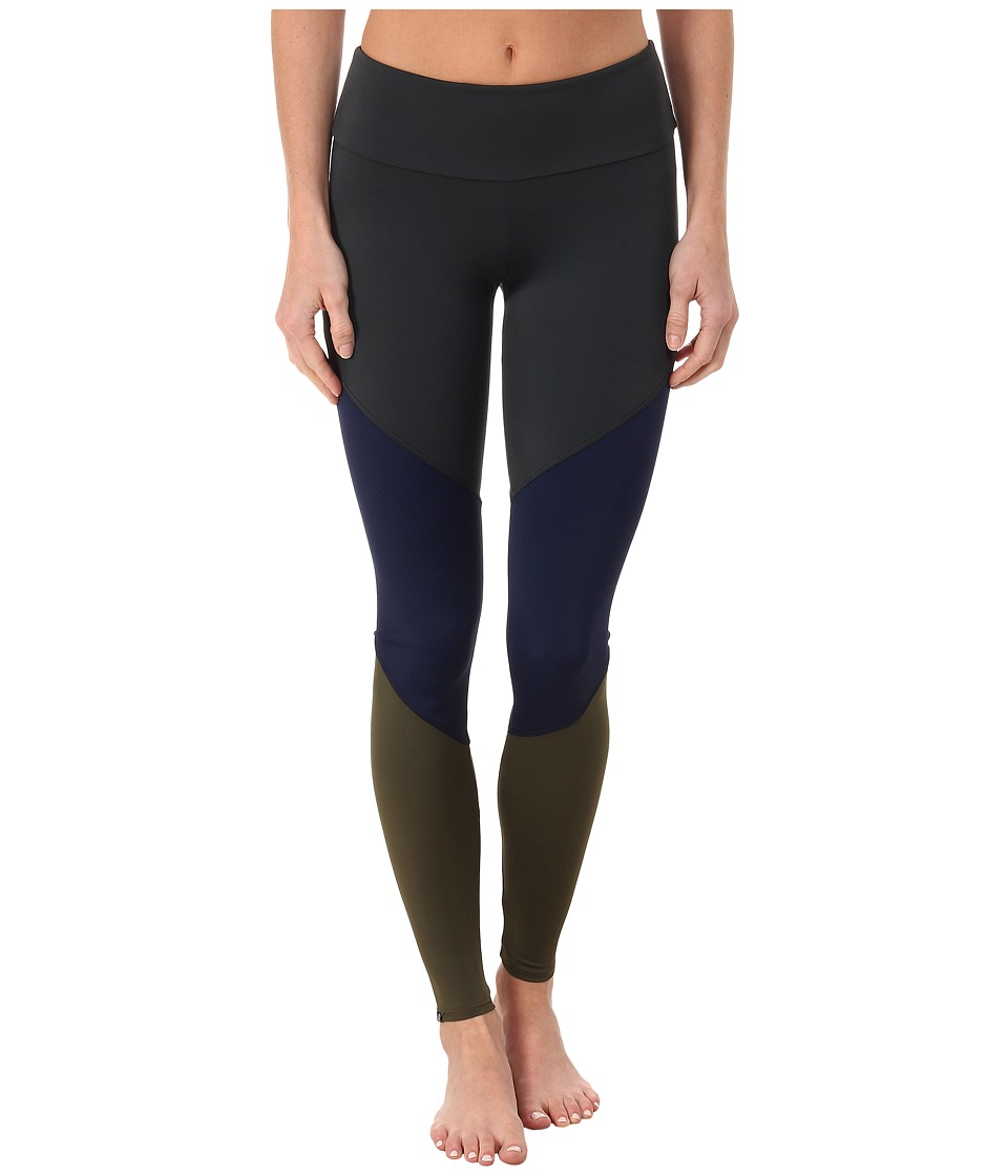 Onzie Track Leggings Charcoal/Navy/Olive Womens Casual Pants