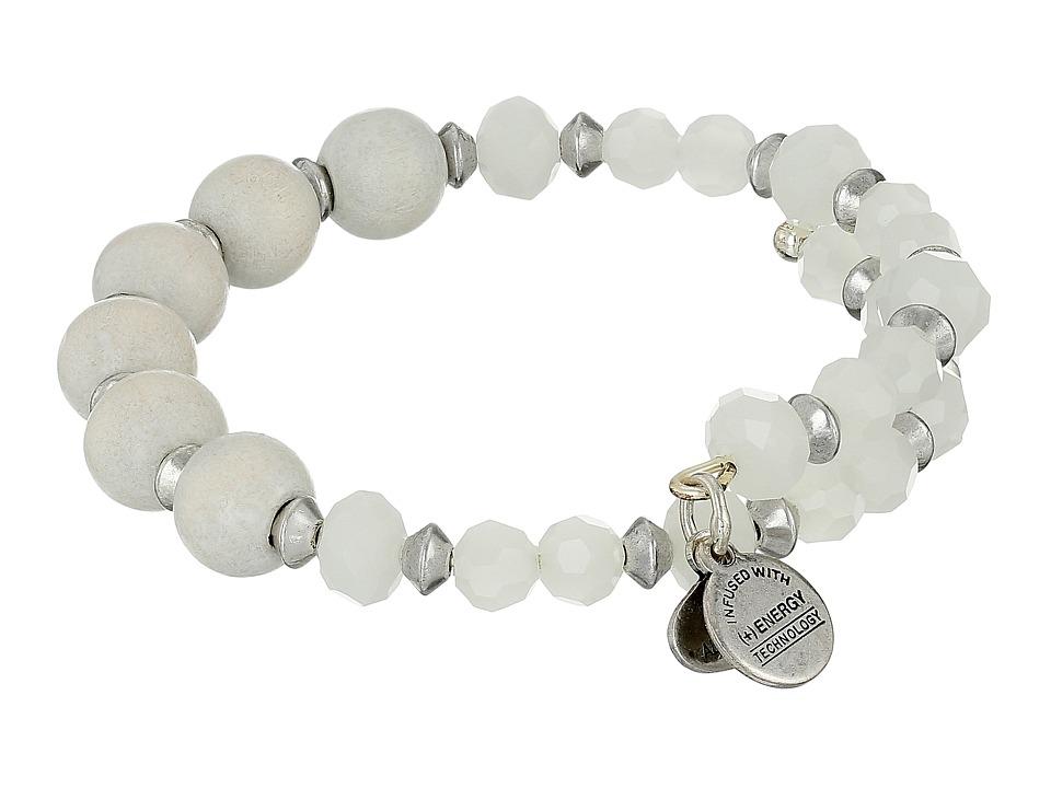 Alex and Ani Retro Glam Enigma Wrap Bracelet Cream/Silver Bracelet