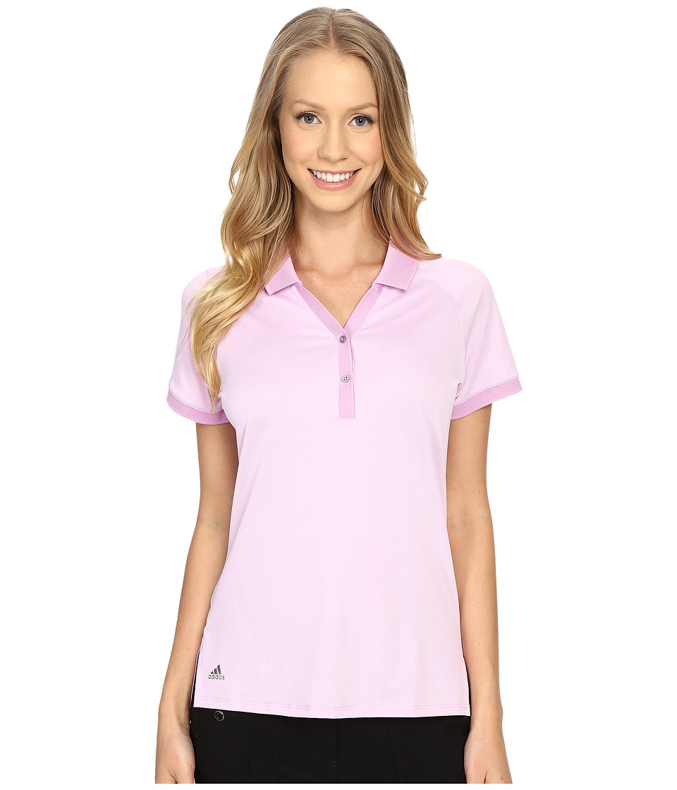 adidas Golf Essential Pique Polo Wild Orchid Womens Short Sleeve Knit