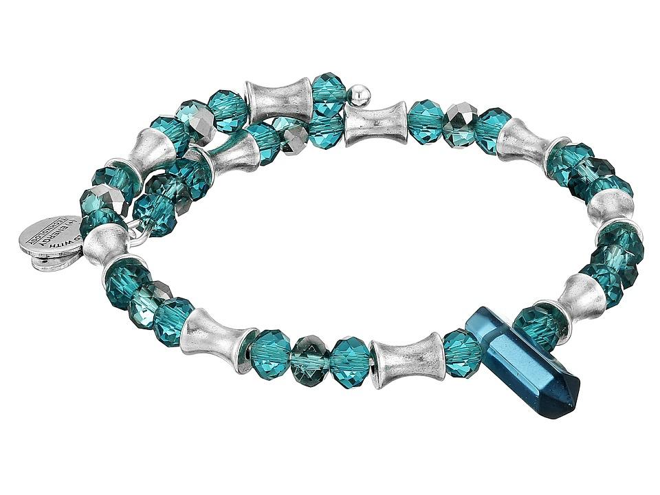 Alex and Ani Retro Glam Wrap Bracelet Sapphire/Silver Bracelet