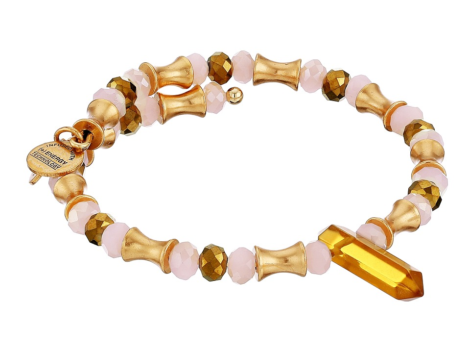 Alex and Ani Retro Glam Wrap Bracelet Topaz/Gold Bracelet