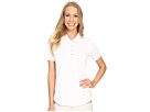 adidas Golf Essentials 3-Stripe Short Sleeve Polo (White/Medium Grey Heather)