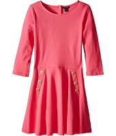 Tommy Hilfiger Kids - Pique Long Sleeve Dress (Big Kid)