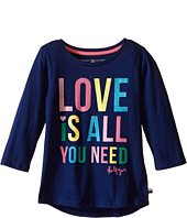 Tommy Hilfiger Kids - Love Is All You Need Long Sleeve Top (Big Kid)