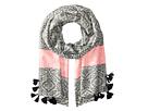 Heart Jaquard Blanket Wrap