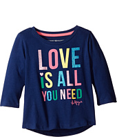 Tommy Hilfiger Kids - Love Is All You Need Long Sleeve Top (Little Kid)