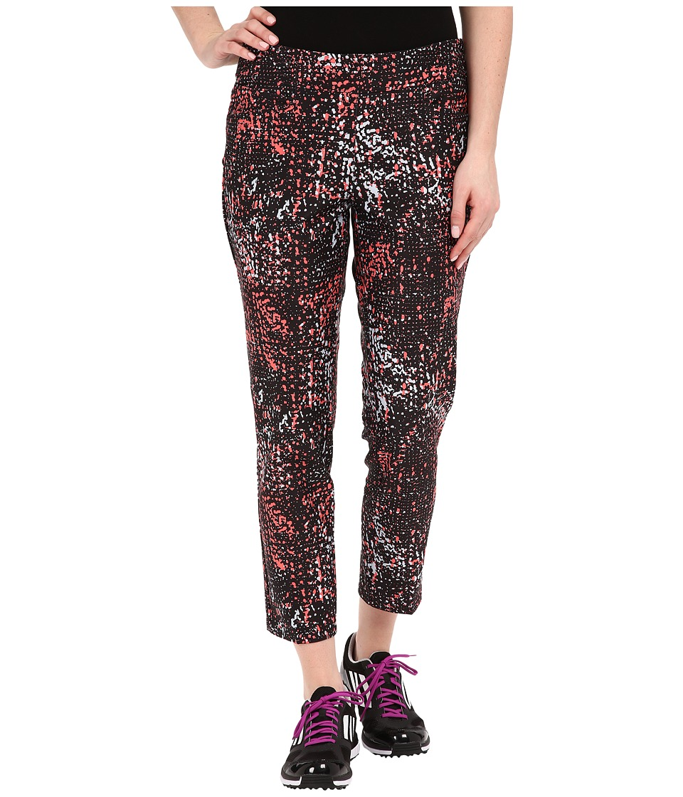 adidas Golf adiStar Print Cropped Pants Black Womens Casual Pants