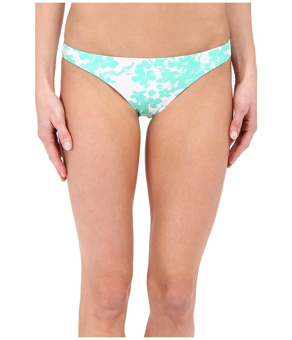 Shoshanna Beach Vine Classic Bottoms Mint/White Womens Swimwear