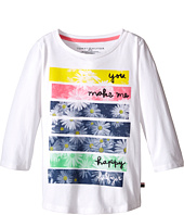 Tommy Hilfiger Kids - Printed 3/4 Sleeve Top (Big Kid)