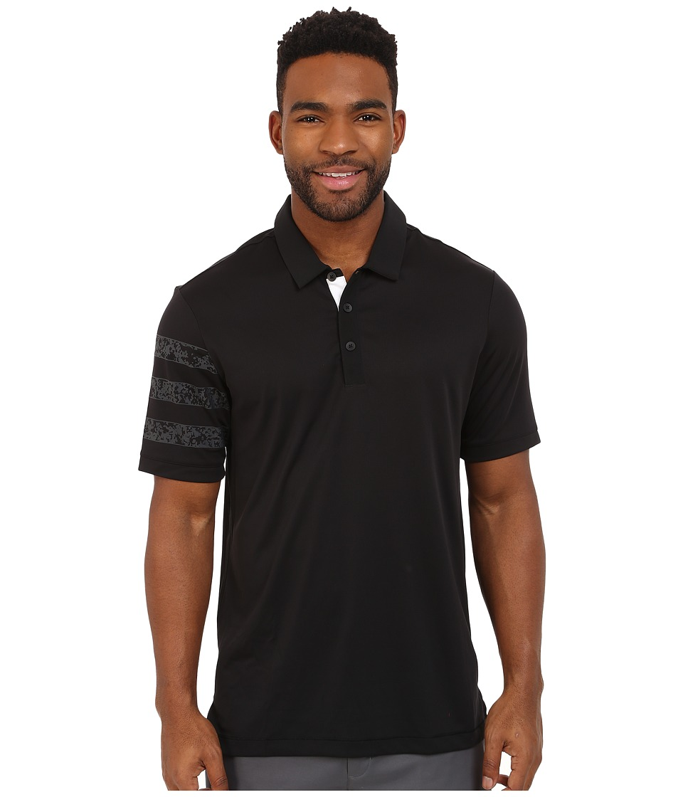 adidas Golf CLIMACHILL Camo Competition Polo Black Mens Clothing