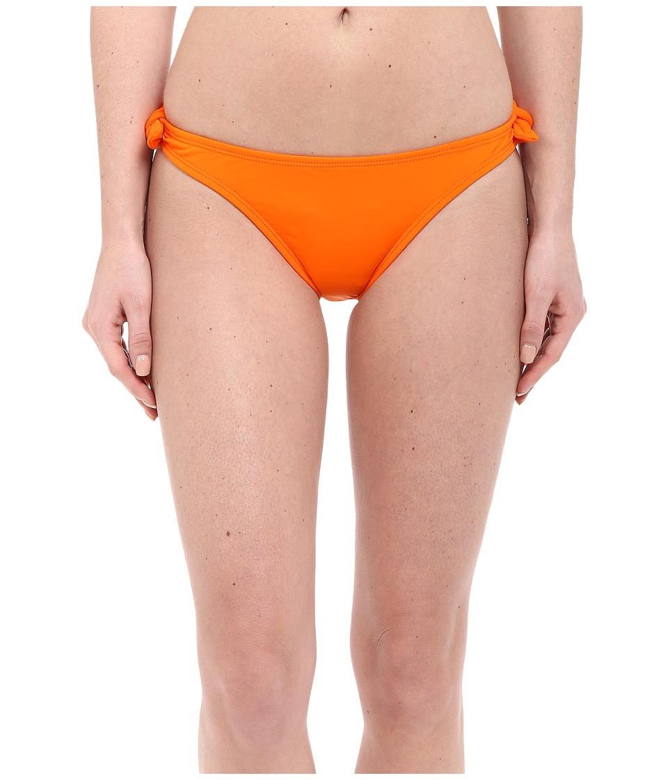 Shoshanna Solid Papaya Bow Bottoms Papaya Womens Swimwear