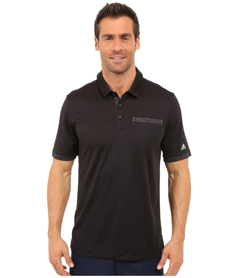 adidas Golf CLIMACHILL Camo Pocket Polo Black/Stone Mens Short Sleeve Knit