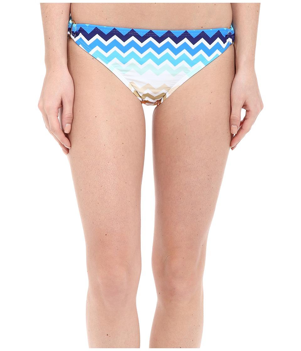 Shoshanna Laguna Ring Bottoms Blue Multi Womens Swimwear
