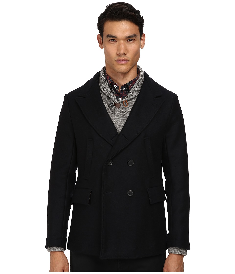 Billy Reid - Bond Peacoat (Navy) Mens Coat