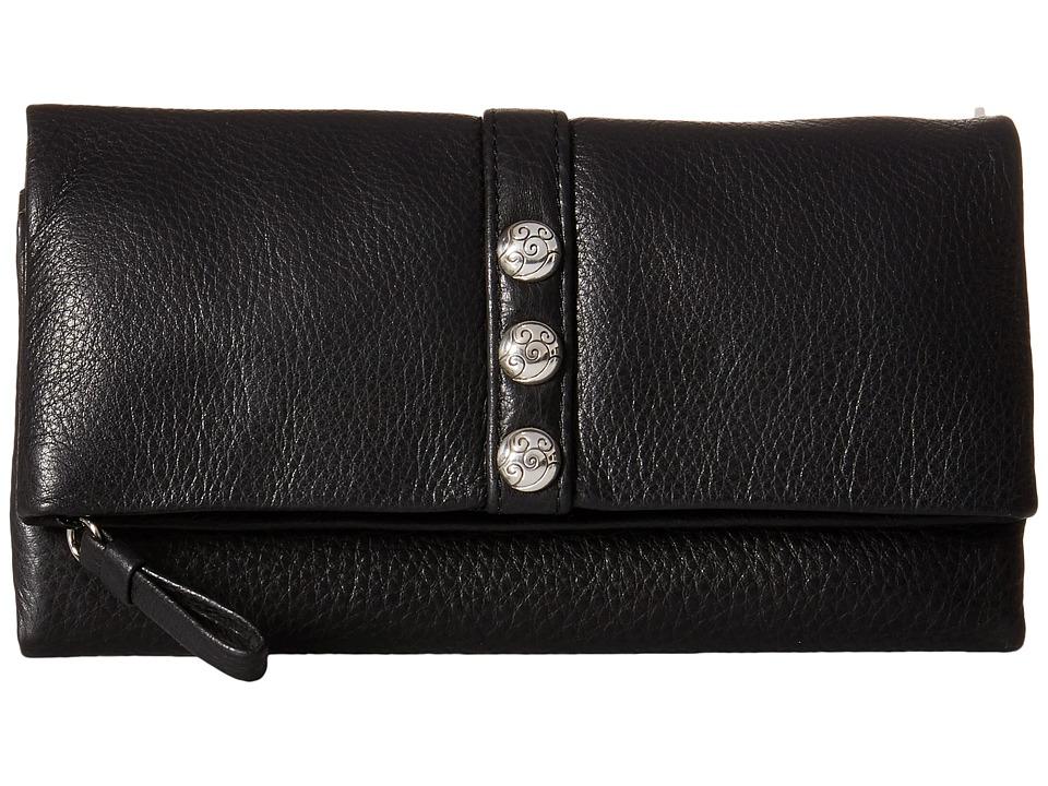 Brighton - Nolita Shimmer Large Wallet (Black) Wallet Handbags