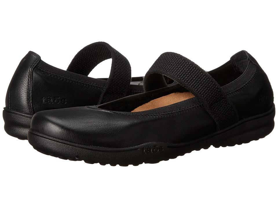 taos Footwear Bandana 2 Black Leather Womens Shoes