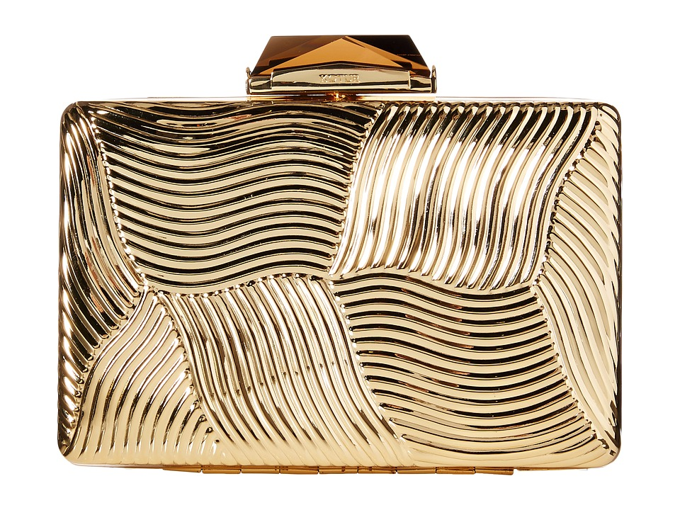 KOTUR Embossed Gold Clutch Handbags