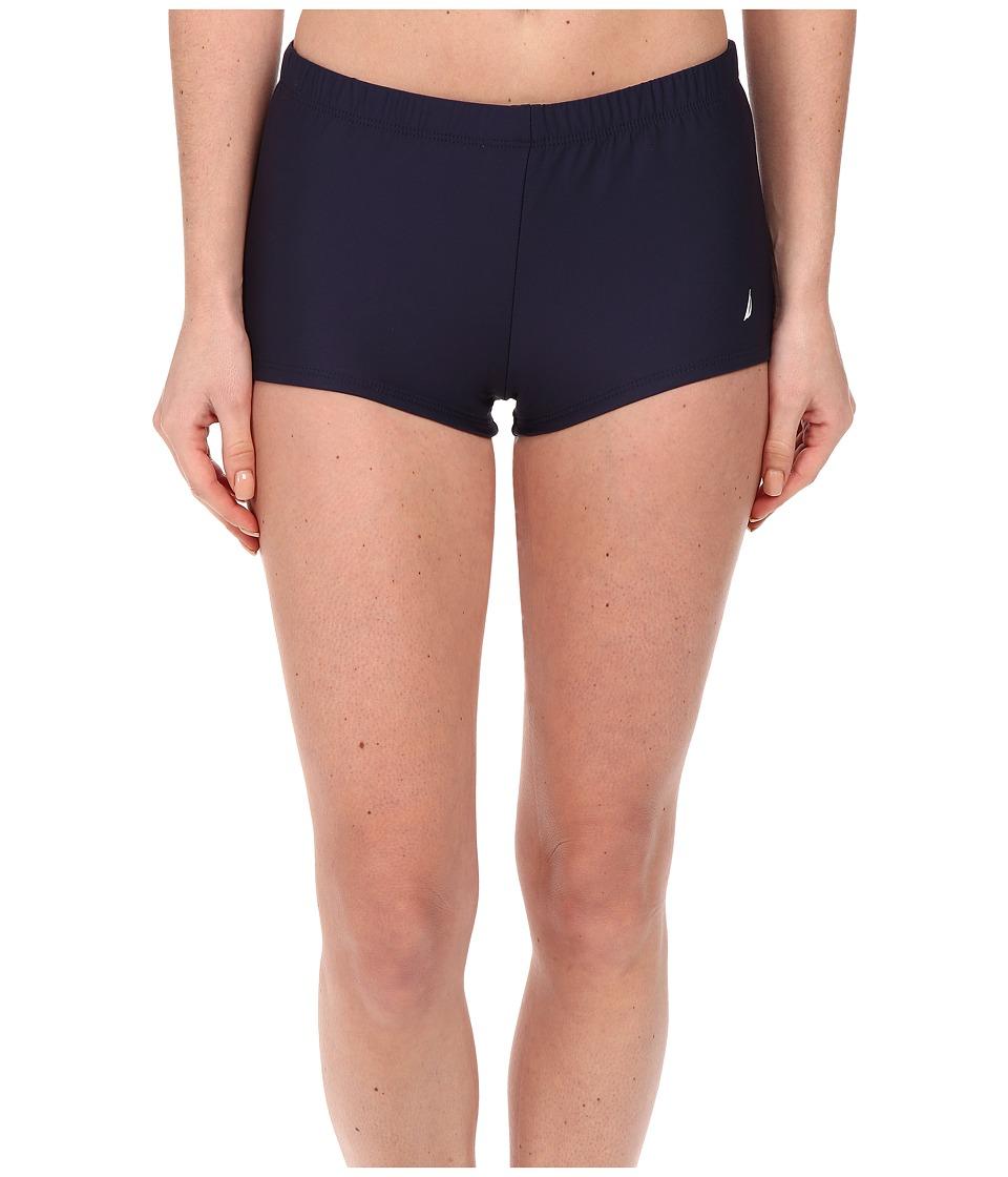 Nautica Signature Boyshorts NA27376 Navy Womens Swimwear