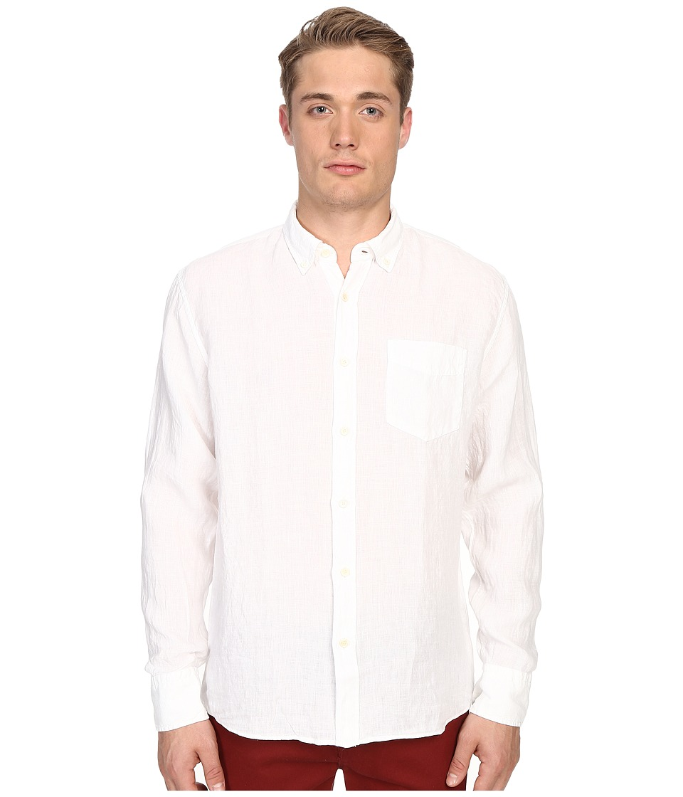 Billy Reid Johnathon Shirt White Mens Clothing