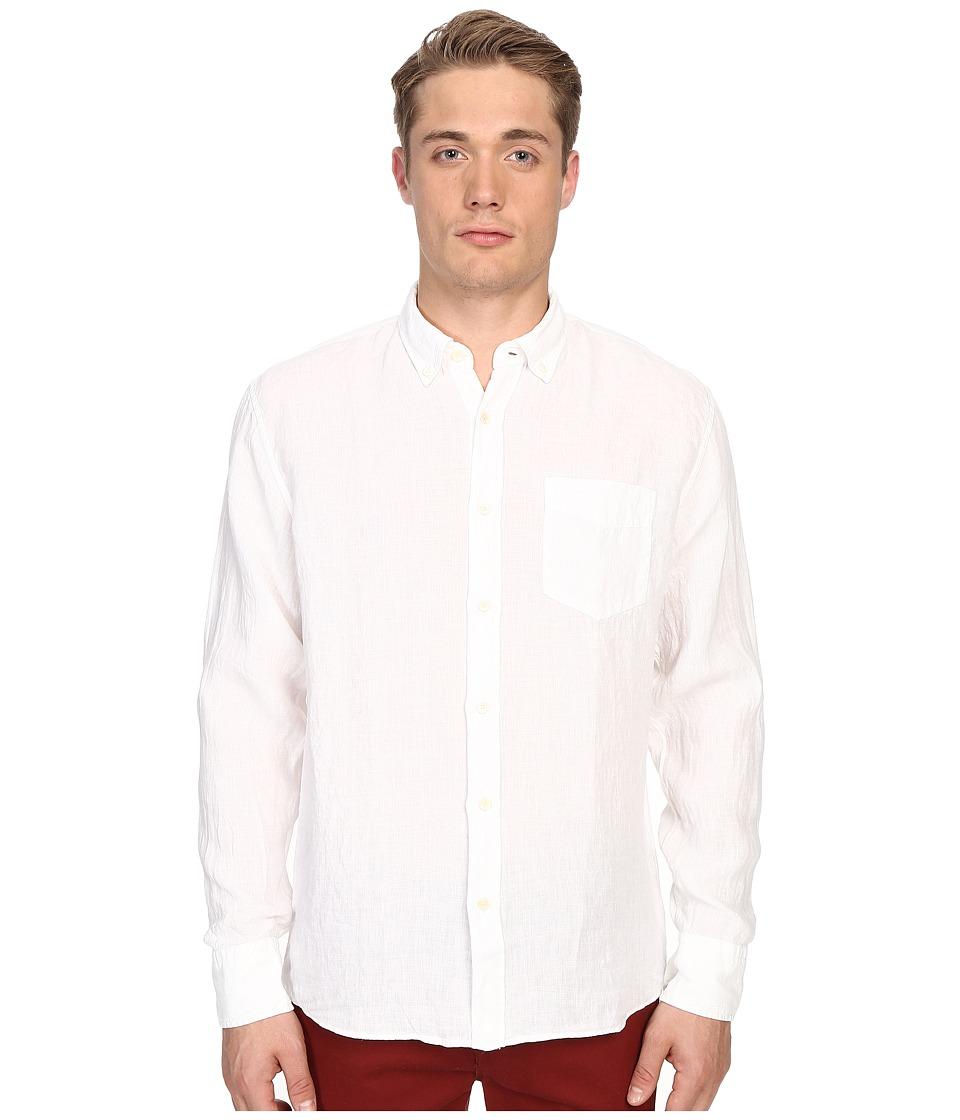 Billy Reid Johnathon Shirt White Mens Clothing