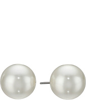 Kenneth Jay Lane - 12 mm Glass Pearl Post Earrings