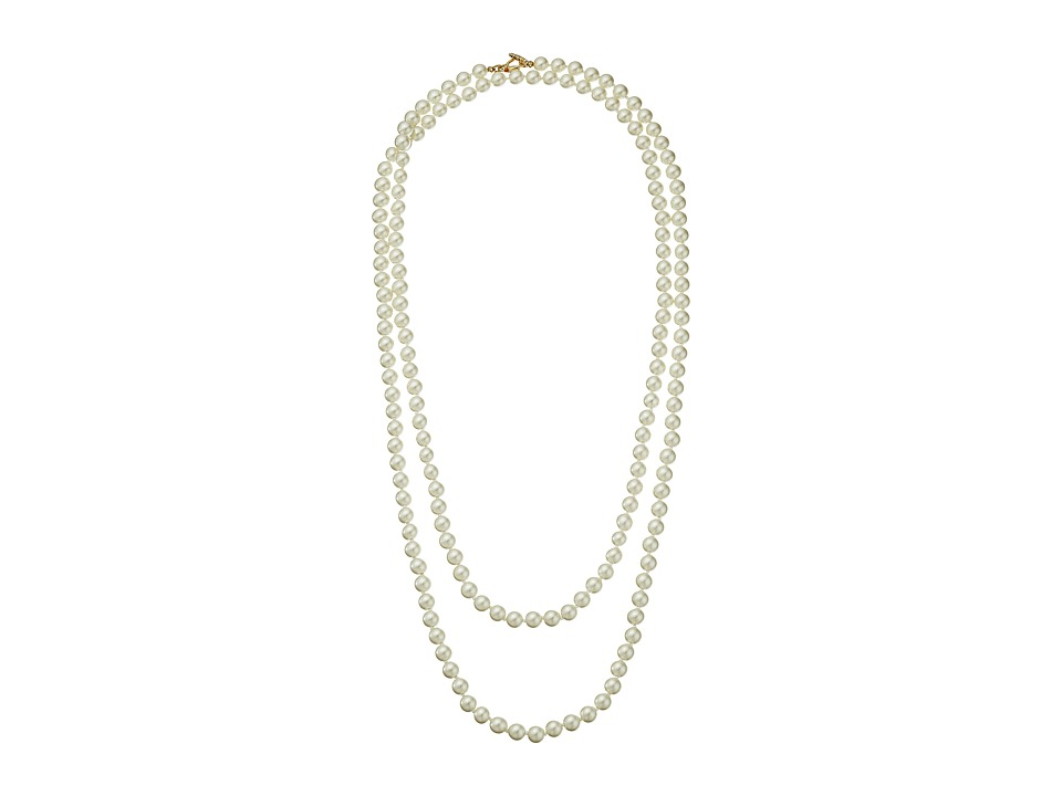 Kenneth Jay Lane - 60 8 mm Cultura Pearl and Gold Toggle Clasp Necklace (Pearl) Necklace