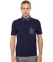 Fred Perry - Woven Collar Trim Pique Shirt