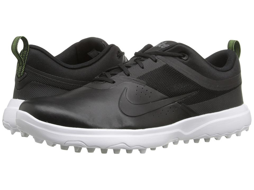 Nike Golf - AKAMAI (Black/Dark Grey/White/Pure Platinum) Womens Golf Shoes