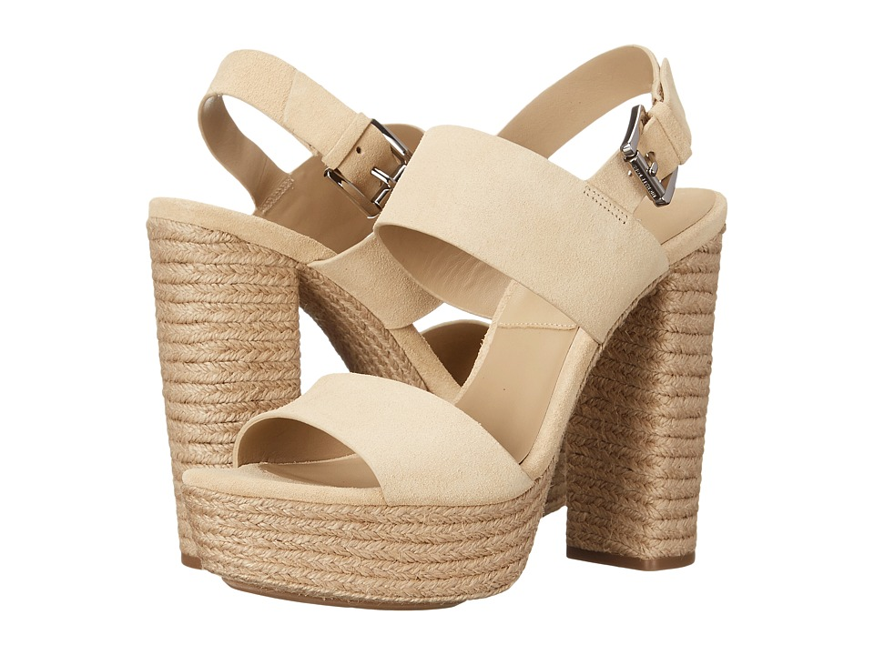 Michael Kors Summer (Ecru Sport Suede/Jute) High Heels