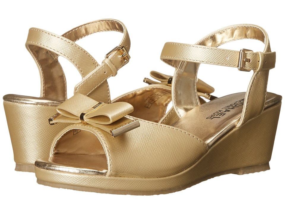 MICHAEL Michael Kors Kids Cate Millie Little Kid/Big Kid Gold Girls Shoes