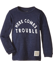 The Original Retro Brand Kids - Here Comes Trouble Long Sleeve Tee (Toddler)