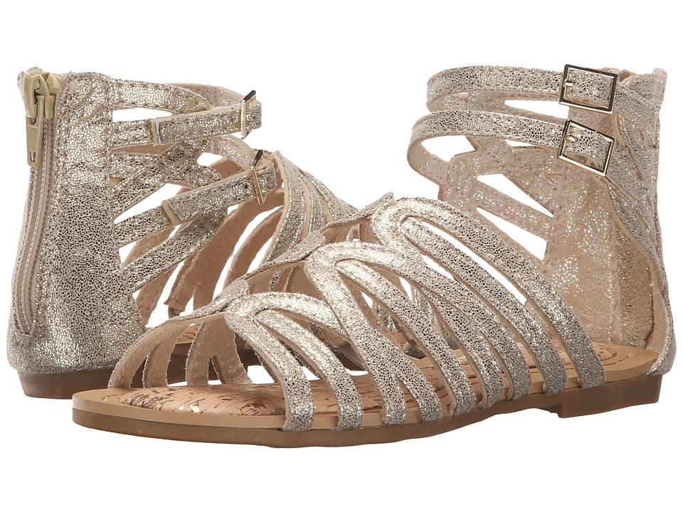 Stuart Weitzman Kids Camia Loop Little Kid/Big Kid Champagne Gold Metallic Girls Shoes