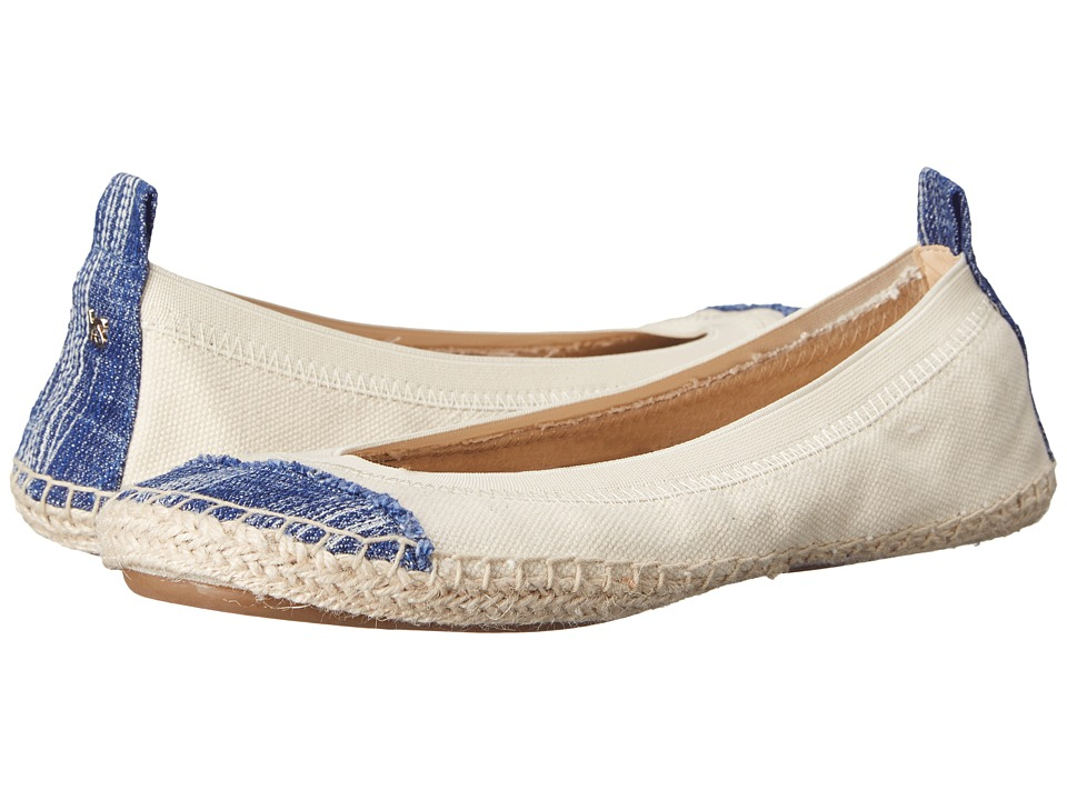 Yosi Samra Lulu Birch/Mezzo Blue Womens Flat Shoes