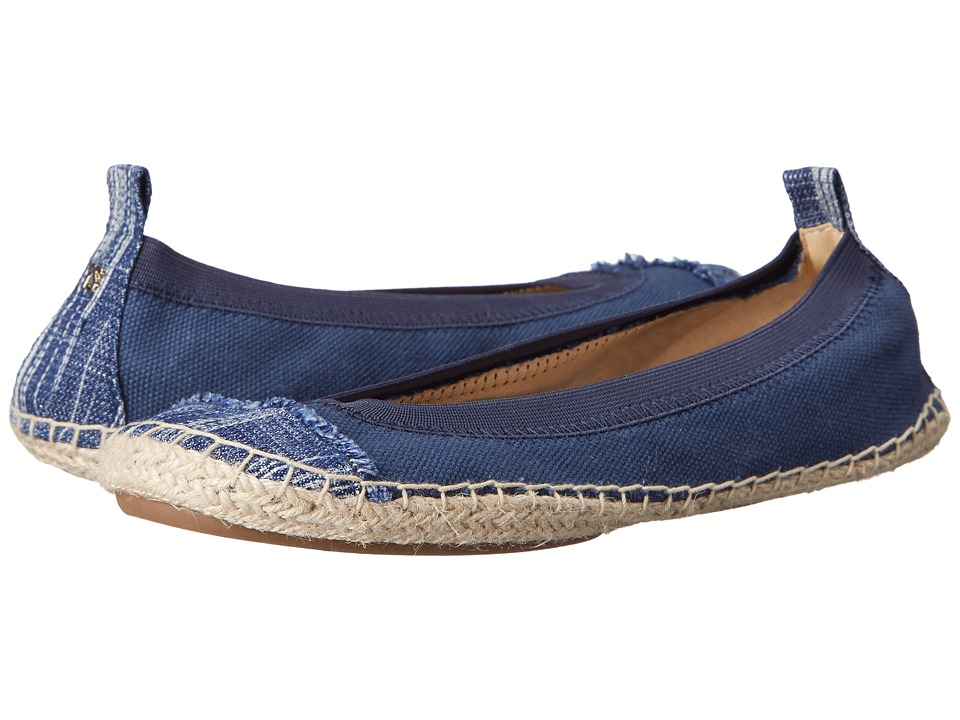Yosi Samra Lulu Indigo/Mezzo Blue Womens Flat Shoes