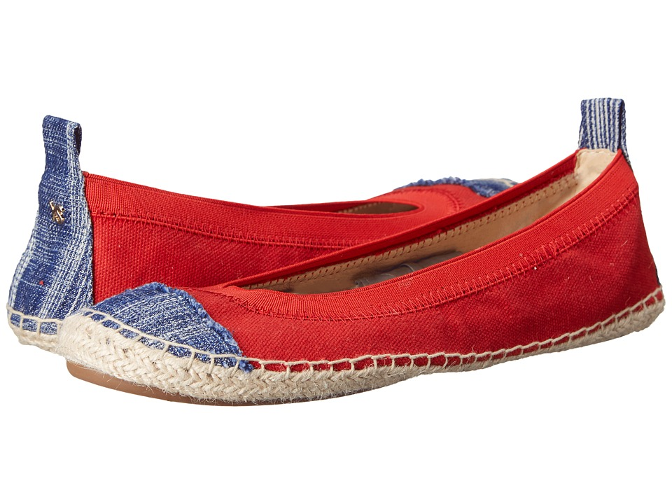 Yosi Samra Lulu Engine Red/Mezzo Blue Womens Flat Shoes