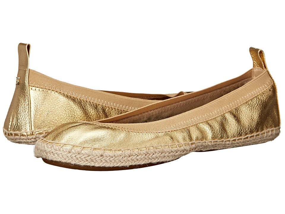 Yosi Samra Lara Pure Gold Womens Flat Shoes