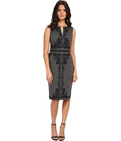 Maggy London - Heather Scroll Sleeveless Ponte Sheath