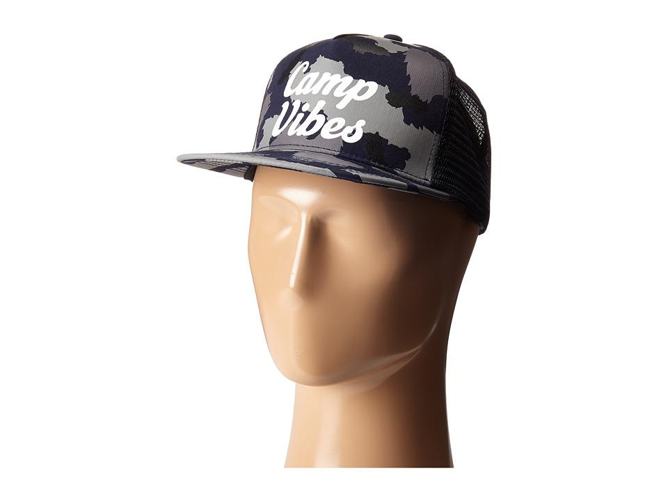 Poler 70s Vibes Mesh Trucker Blue Steel Camo Caps
