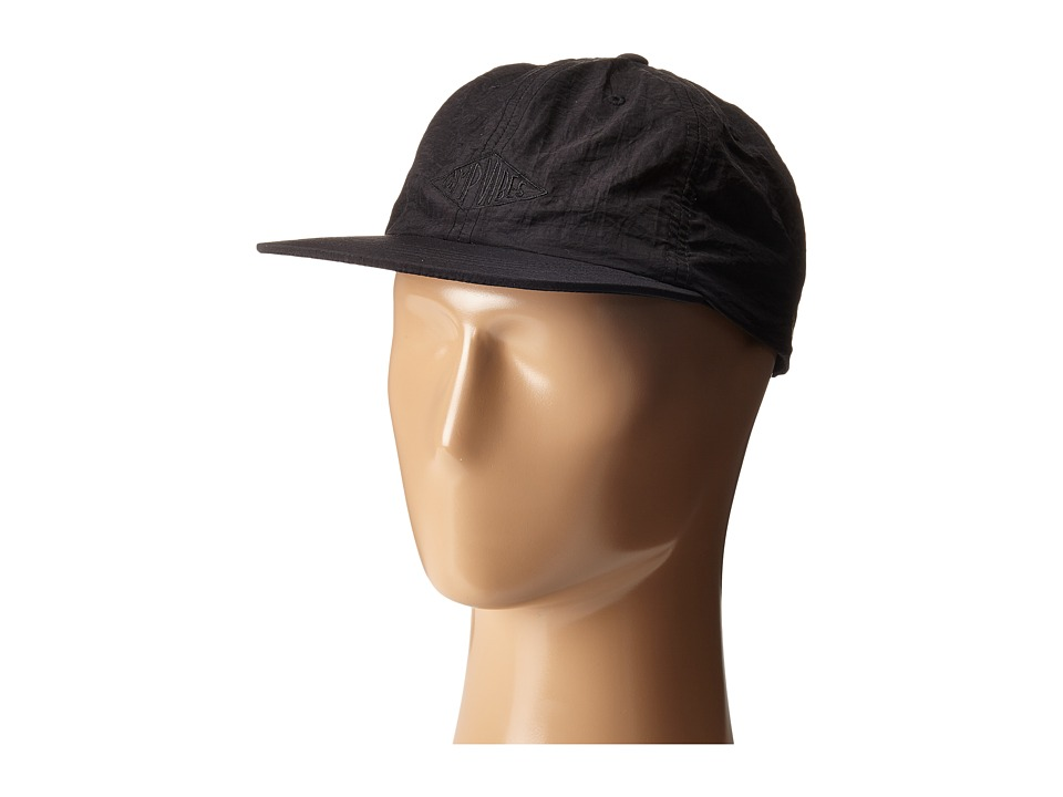 Poler Camp Vibes Nylon Floppy Black Baseball Caps