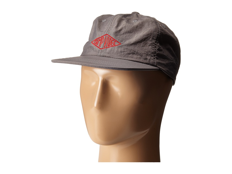 Poler Camp Vibes Nylon Floppy Grey Baseball Caps