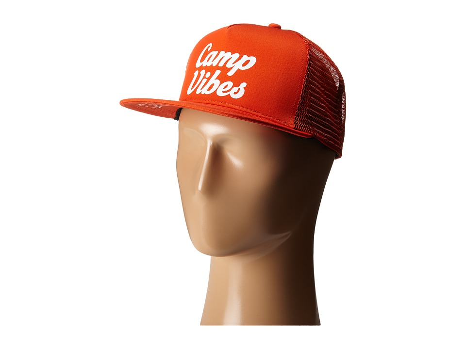 Poler 70s Vibes Mesh Trucker Burnt Orange Caps