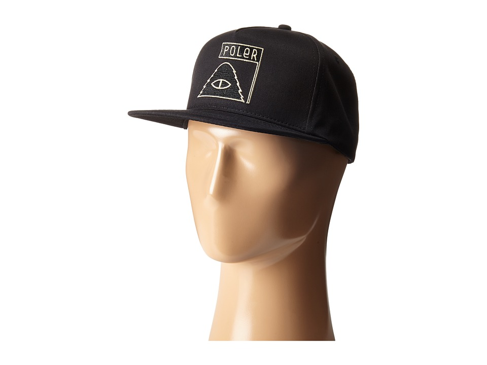 Poler Summit Snapback Black Baseball Caps