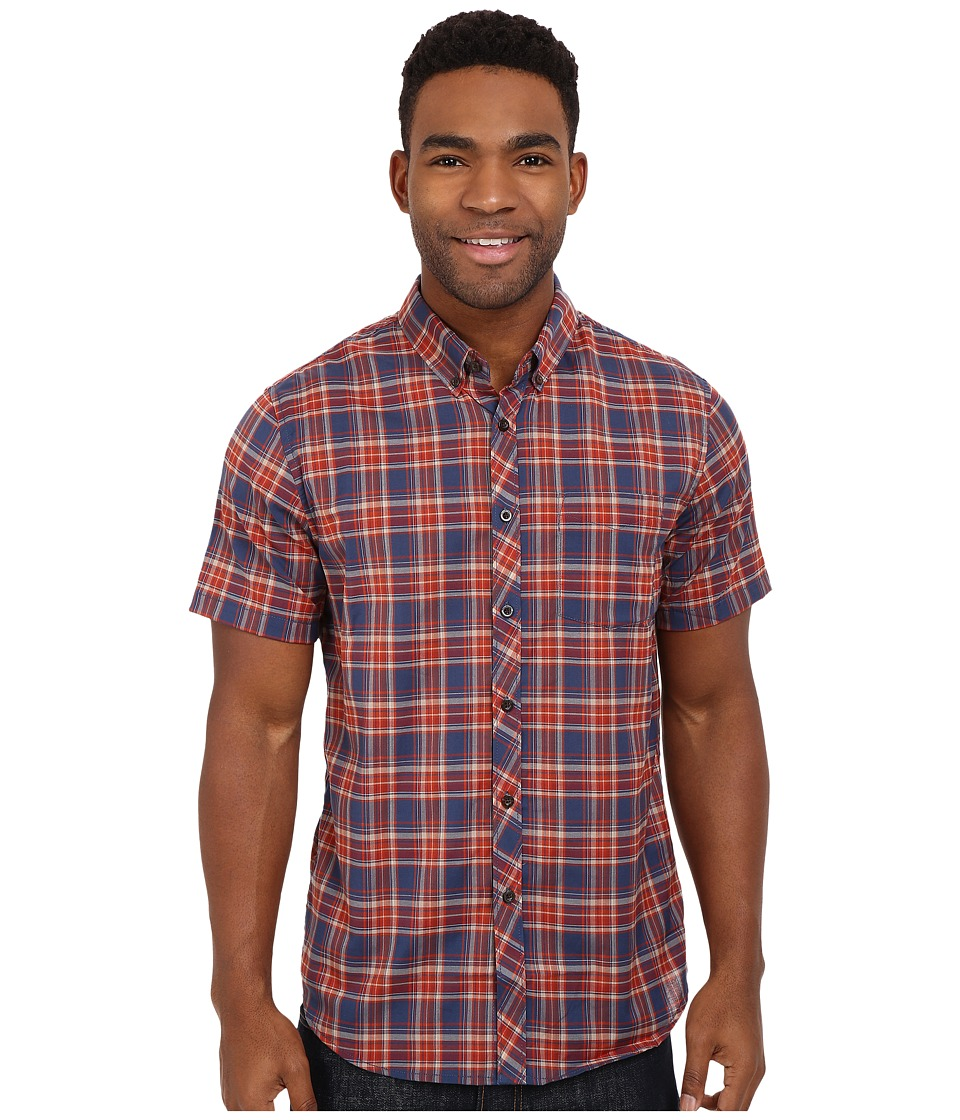 Billabong Roadhouse Short Sleeve Woven Dark Royal Mens Short Sleeve Button Up