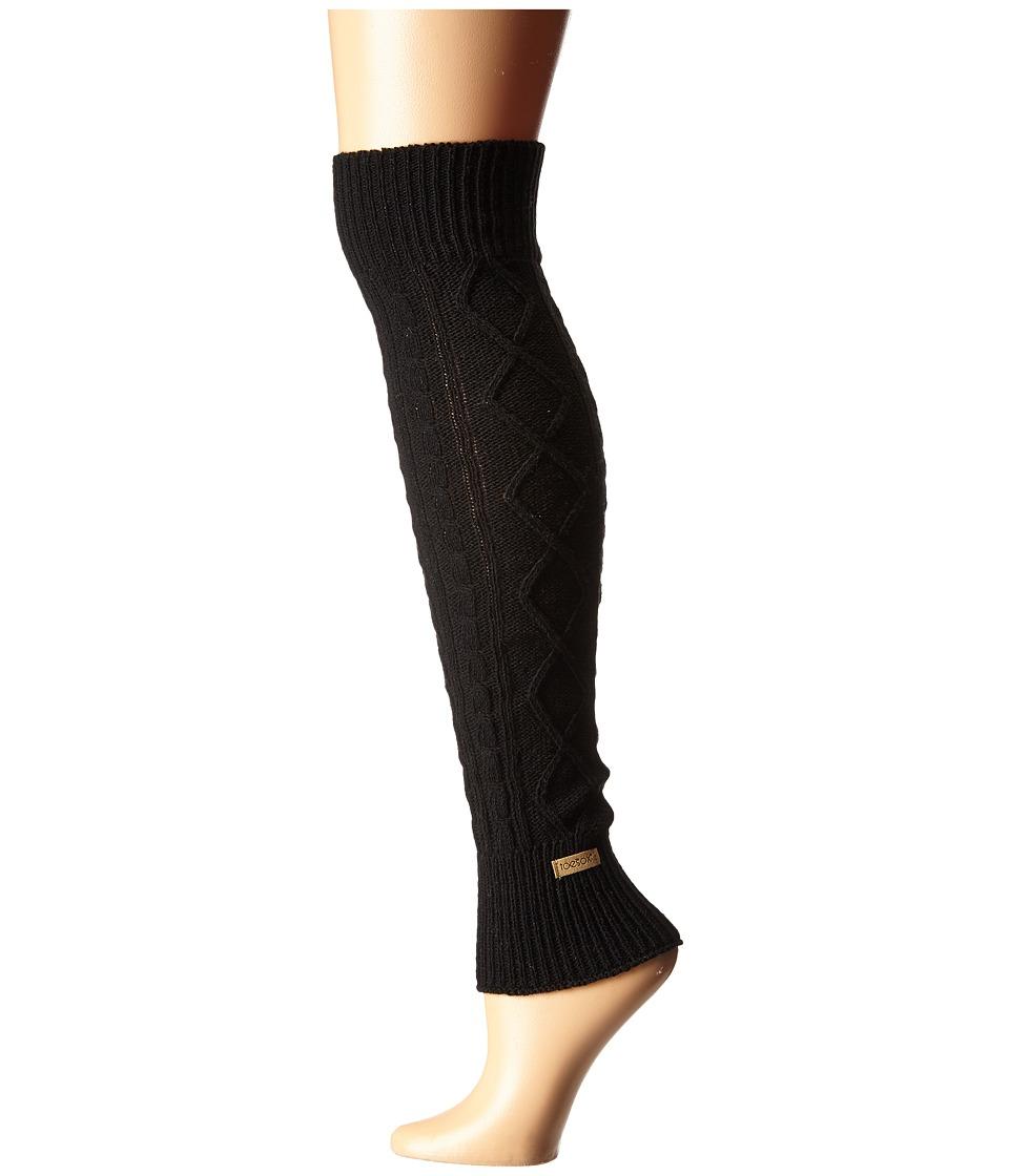toesox - Leg Warmer Knee-Highs (Black) Womens Knee High Socks Shoes