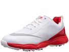 Nike Golf Control Jr. (Little Kid/Big Kid) (White/Metallic Silver/Bright Crimson)