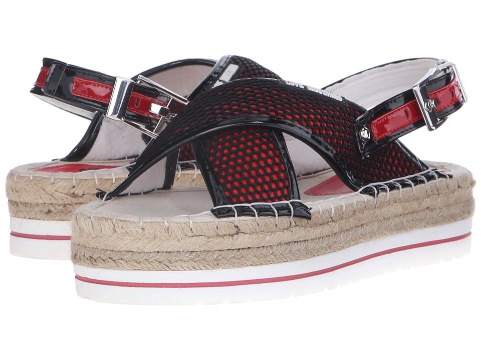 LOVE Moschino Net Sandal Black/Red Womens Sandals