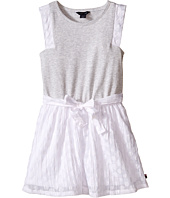 Tommy Hilfiger Kids - Burn Out Voile and Jersey Dress (Little Kid)