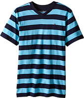 Tommy Hilfiger Kids - Famous Stripe Tee (Big Kid)